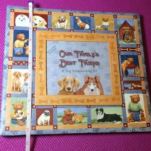 Dog scrapbooking kit with stickers and paper